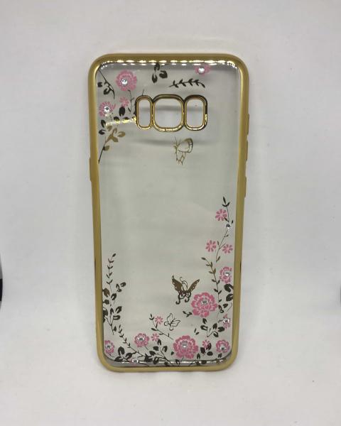 Husa Flori si Fluturi Gold Samsung Galaxy S8 Plus 0