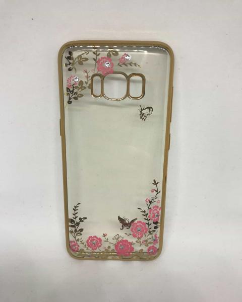 Husa Flori si Fluturi Gold Samsung Galaxy S8 0