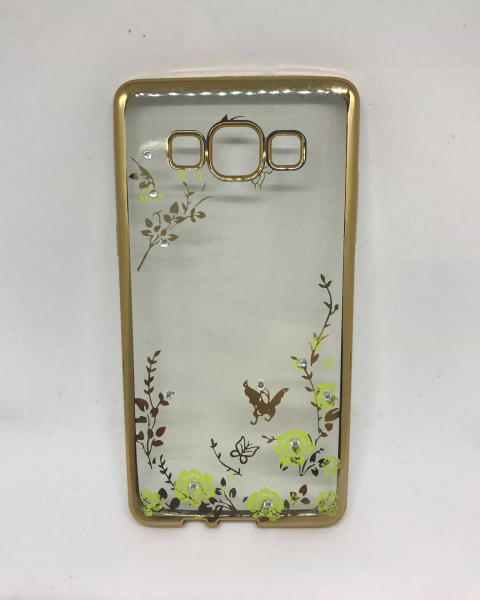 Husa Flower Gold Samsung Galaxy A5 2015 0