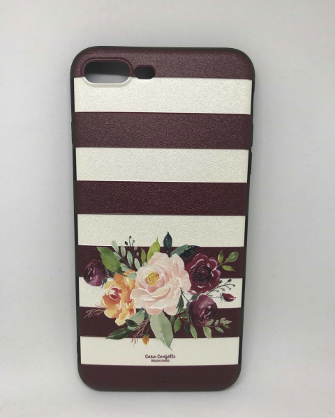 Husa Flower Stripes iPhone 7 Plus / iPhone 8 Plus 0