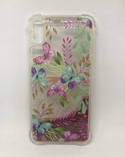 Husa Sclipici Lichid Butterflies iPhone XS Max 0