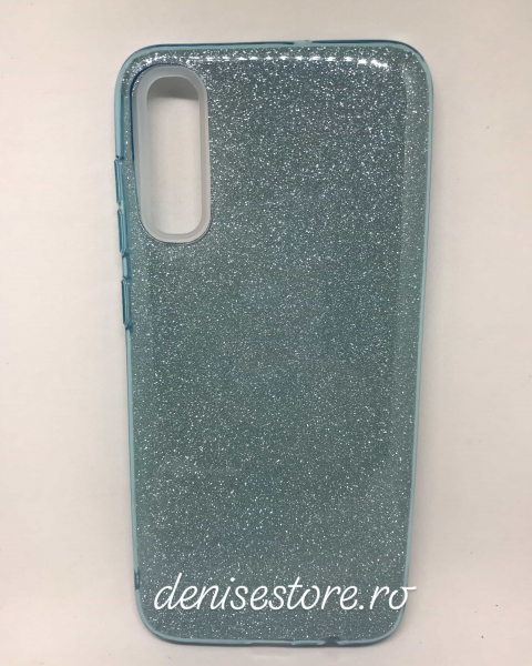 Husa Glitter Blue Samsung Galaxy A70 0