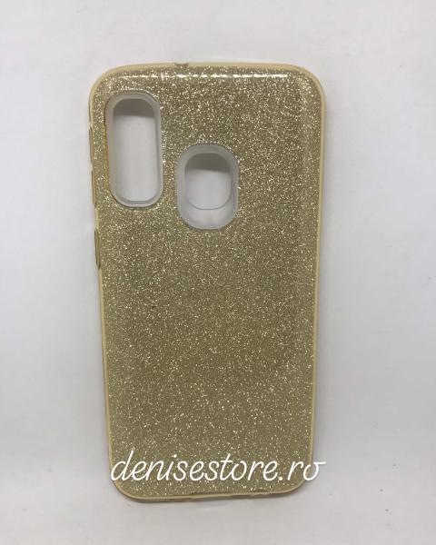 Husa Glitter Gold Samsung Galaxy A40 0