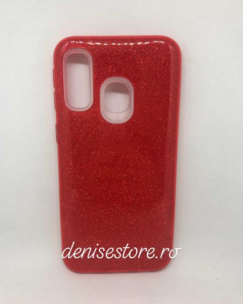 Husa Glitter Red Samsung Galaxy A40 0
