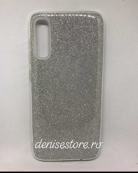 Husa Glitter Silver Samsung Galaxy A70 0