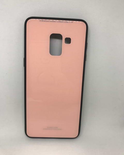 Husa Glass Pink Samsung Galaxy A8 2018 0