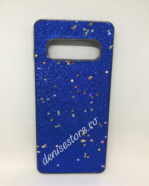 Husa Glitter Blue Stars Samsung Galaxy S10 Plus 0