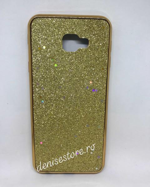 Husa Glitter Gold Stars Samsung Galaxy J4 Plus 2018 0