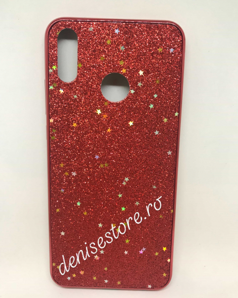Husa Glitter Red Stars Huawei Y9 2019 0