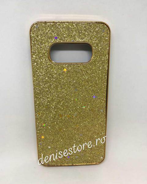 Husa Glitter Gold Stars Samsung Galaxy S10e 0