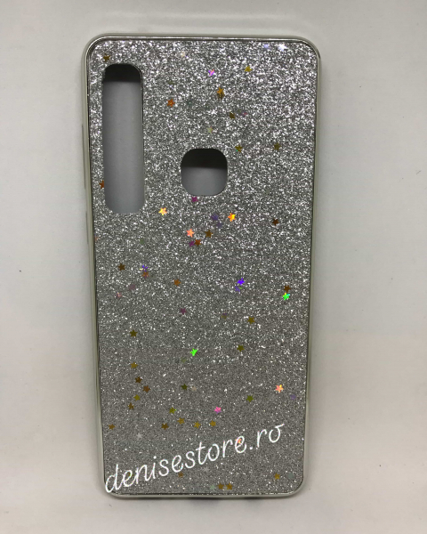 Husa Glitter Silver Stars Samsung Galaxy A9 2018 [0]