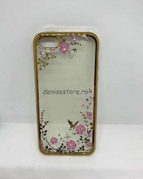 Husa Flori și Fluturi Gold iPhone 5/5s/SE [0]