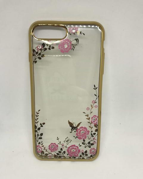 Husa Flowers Gold iPhone 7 Plus / iPhone 8 Plus 0