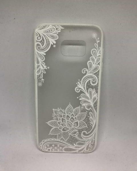 Husa Henna Flower White Samsung Galaxy S7 Edge 0