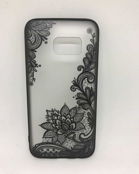 Husa Henna Black Flower Samsung Galaxy S7 0