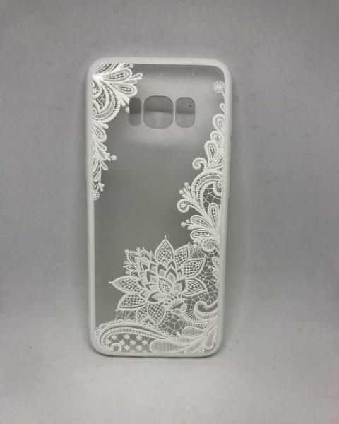 Husa Henna Flower White Samsung Galaxy S8 0