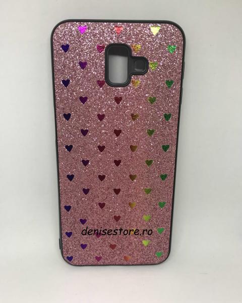 Husa Hearts Pink Samsung Galaxy J6 Plus 2018 0