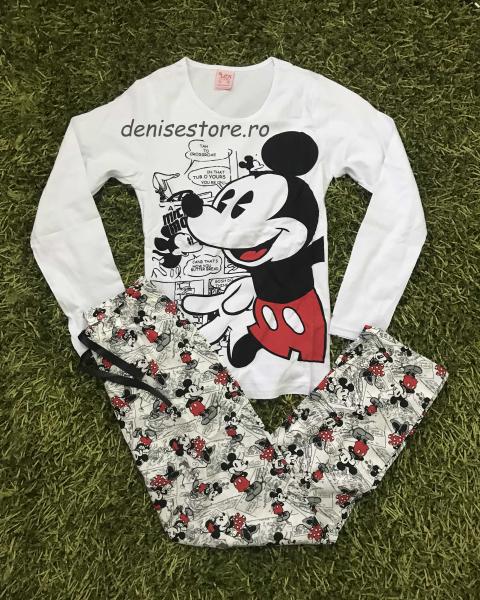 Pijama Mickey Gray & White Long 0