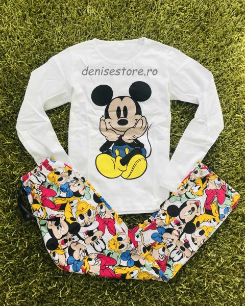 Pijama Mickey Cute White 0