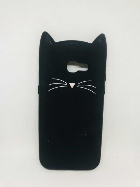 Husa 3D Cat Black (defect poza 2) Samsung Galaxy A5 2017 0