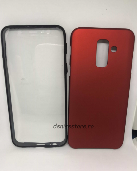 Husa 360 Red Wine Samsung Galaxy A6 Plus 2018 0