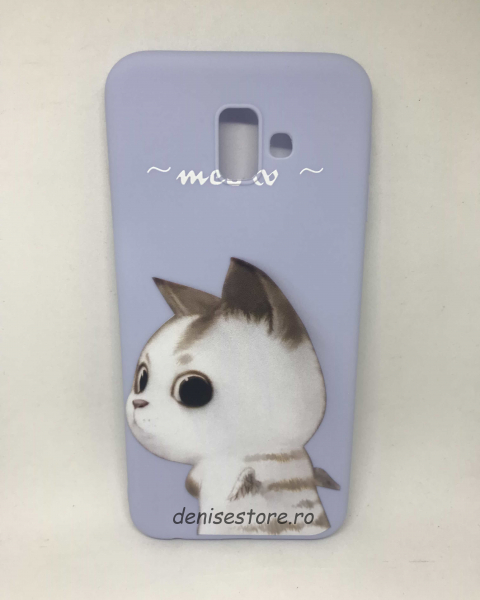 Husa Meow Cat Samsung Galaxy J6 Plus 2018 [0]