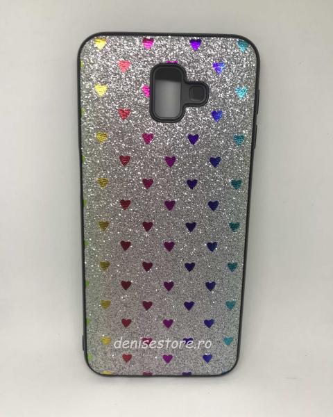 Husa Hearts Silver Samsung Galaxy J6 Plus 2018 0