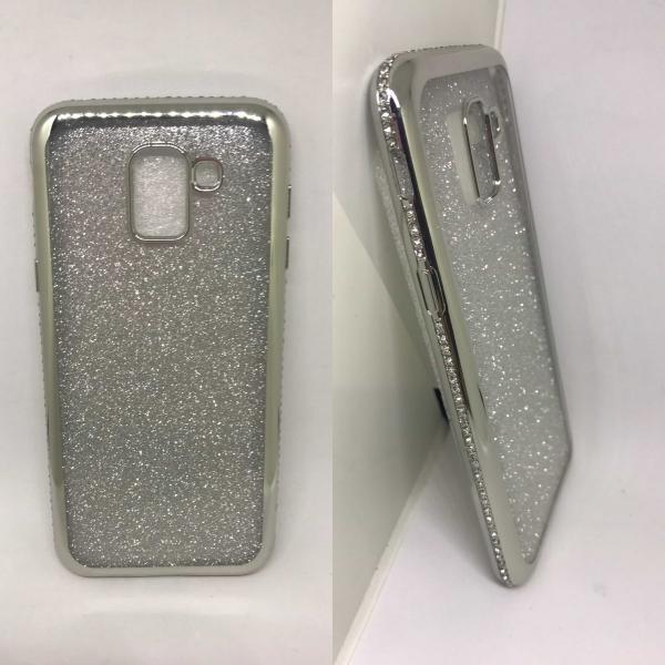 Husa Glitter Rhinestones Silver Samsung Galaxy J6 2018 [0]