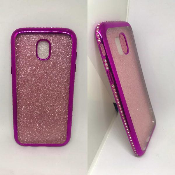 Husa Glitter Rhinestones Pink Samsung Galaxy J5 2017 0