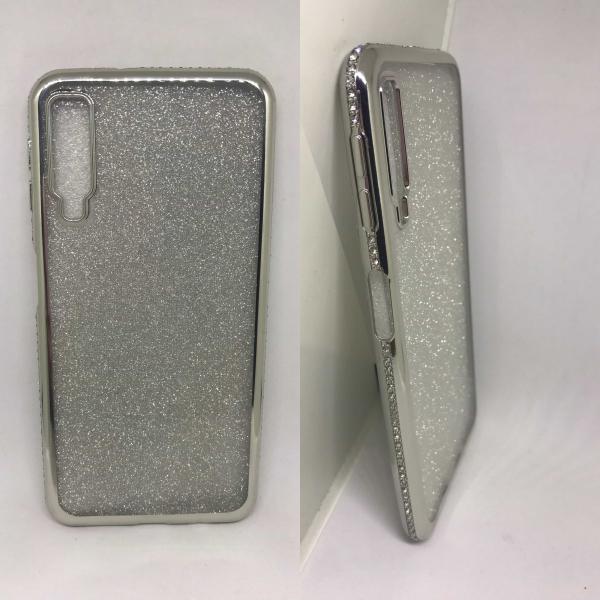 Husa Glitter Silver Rhinestones Samsung Galaxy A7 2018 0