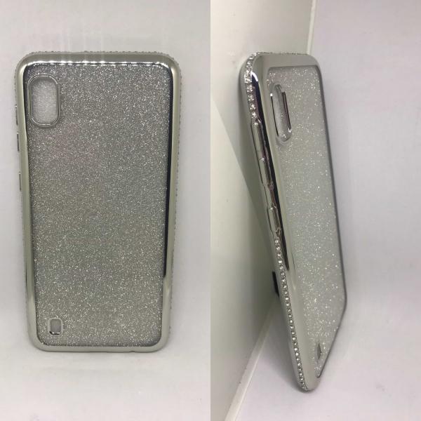 Husa Glitter Silver Rhinestones Samsung Galaxy A10 0