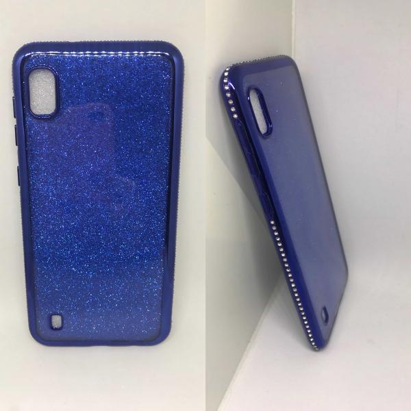 Husa Glitter Blue Rhinestones Samsung Galaxy A10 [0]