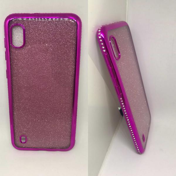 Husa Glitter Rhinestones Pink Samsung Galaxy A10 0