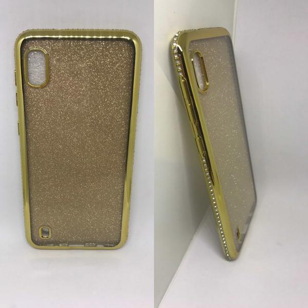 Husa Glitter Rhinestones Gold Samsung Galaxy A10 [0]