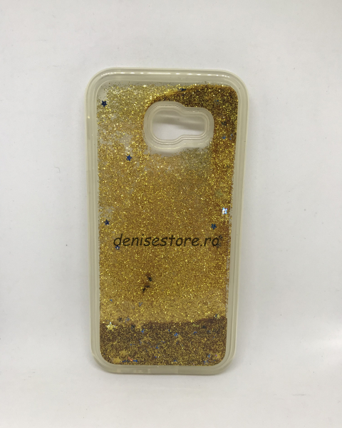 Husa Sclipici Lichid Gold Samsung Galaxy A5 2017 [0]