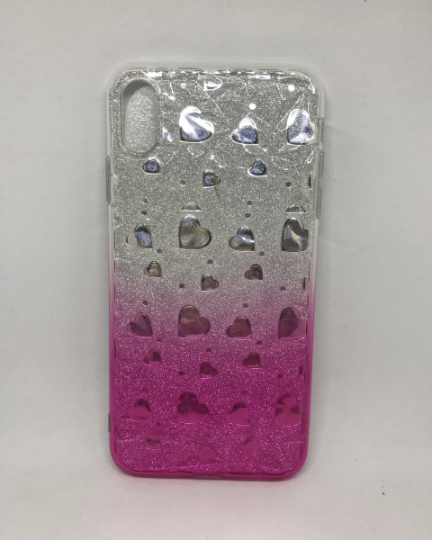 Husa Degrade Hearts Pink iPhone XS Max 0
