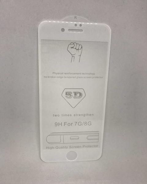 Folie de sticla 5D White iPhone 7 / iPhone 8 [0]