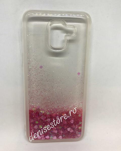 Husa Sclipici Lichid Pink Samsung Galaxy J6 2018 0