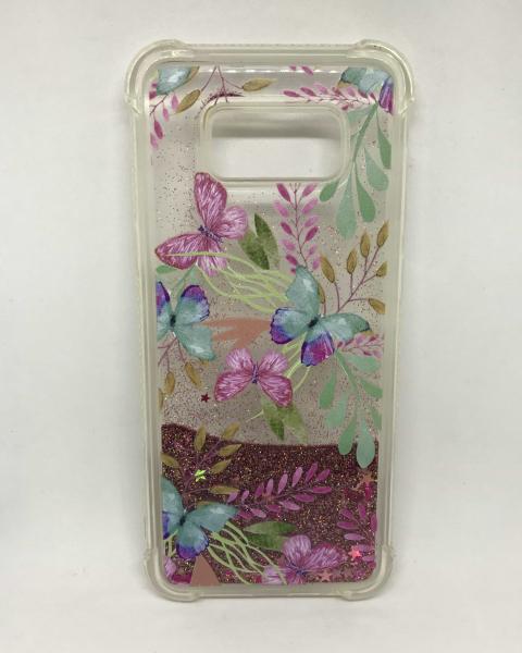 Husa Sclipici Lichid Butterflies Samsung Galaxy S8 Plus 0