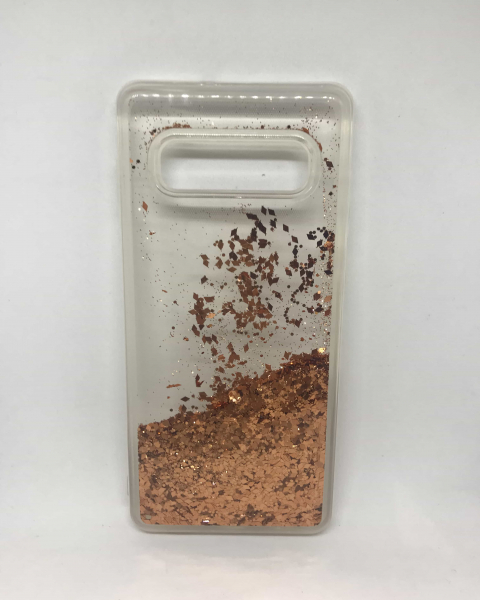 Husa Sclipici Lichid Dark Gold Samsung Galaxy S10 Plus 0