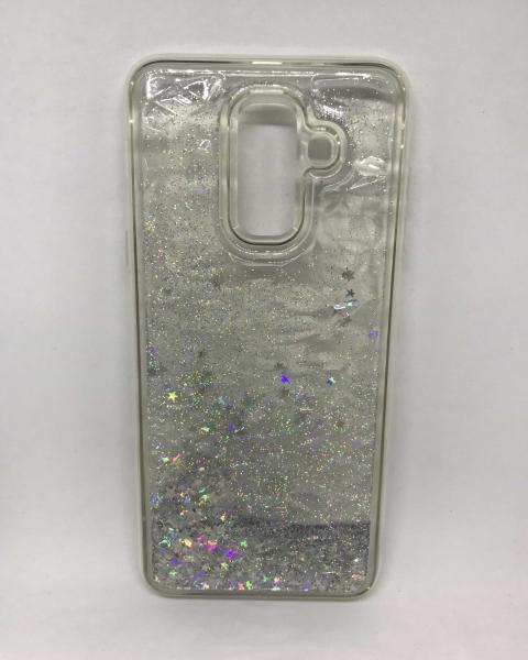 Husa Sclipici Lichid Silver Samsung Galaxy A6 Plus 2018 0