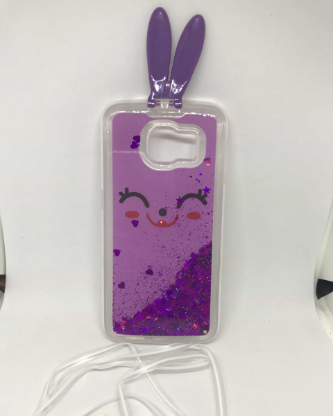 Husa Sclipici Lichid Purple Rabbit Samsung Galaxy S6 Edge [0]