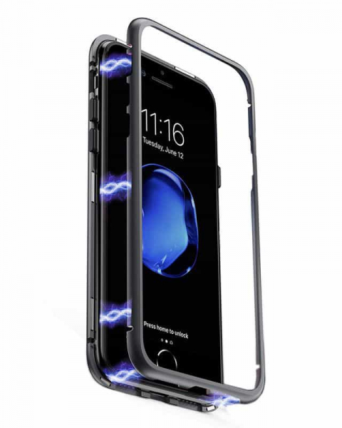 Husa 360 Inchidere Magnetica Black iPhone X / XS 0