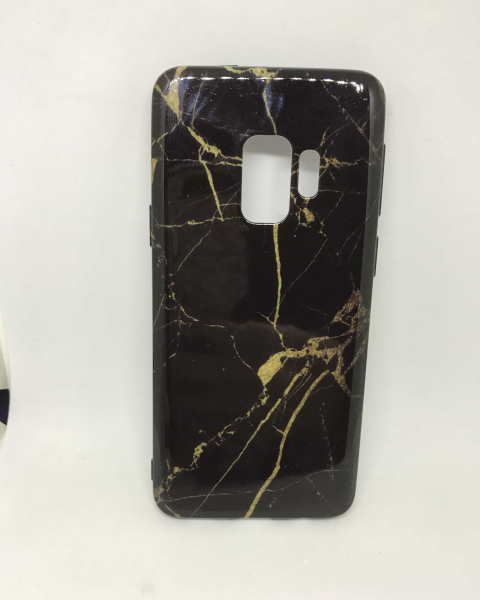 Husa Marble Black & Gold Samsung Galaxy S9 [0]