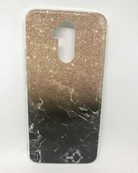 Husa Marble & Glitter Gold Huawei Mate 20 Lite 0