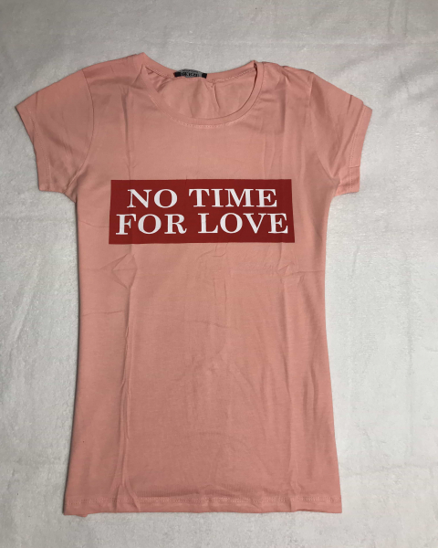 Tricou No Time For Love Pink 0