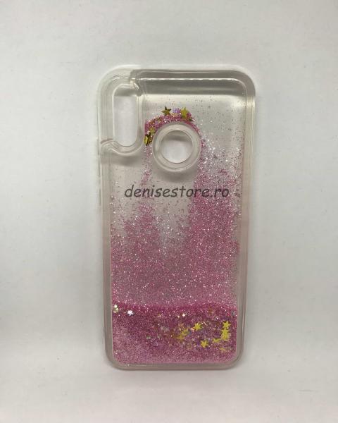 Husa Sclipici Lichid Pink Huawei P20 Lite [0]