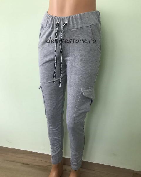 Pantaloni Cargo Gray 0