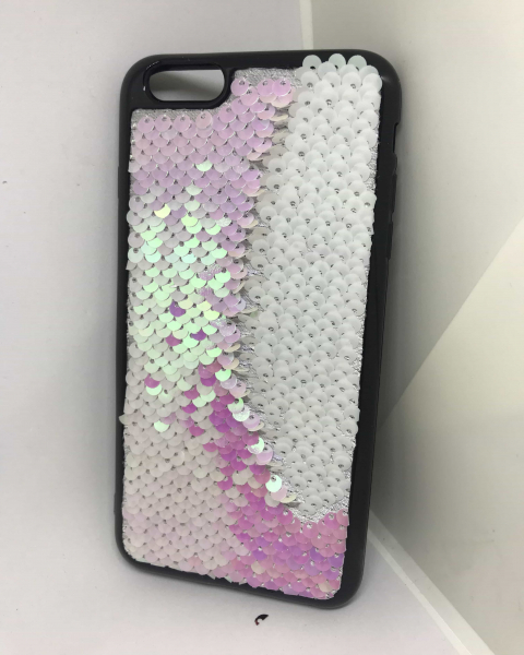 Husa Paiete Reversibile Pink iPhone 6 Plus/ 6s Plus 1