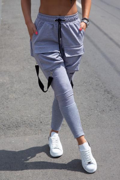 Pantaloni Vgb Black Gray 0